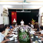 Đồng chí Bí thư Huyện ủy làm việc với Phòng Giáo dục và Đào tạo huyện